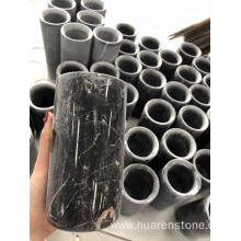 factory customized for Marble Vase,White Marble Vase,Marble Flower Vase Manufacturers and Suppliers in China Black Nero Marquina marble vase export to South Korea Manufacturer